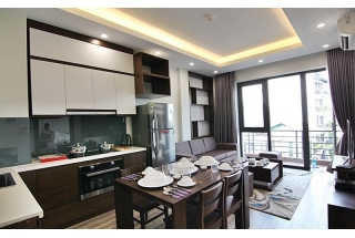 Modern serviced apartment with 1 bedroom for rent on To Ngoc Van street, Tay Ho