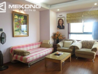 Apartment for rent in Tay Ho district, Hanoi, 3 BR, Fully furnished.