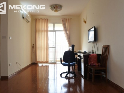 Bright apartment with 2 bedrooms for rent at 713 building, Lac Long Quan street, Tay Ho