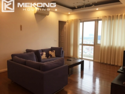 Bright furnished apartment with 4 bedroom for rent in E5 tower, Ciputra Hanoi