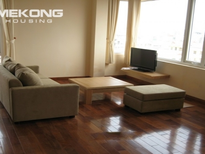 Bright serviced apartment for rent in Nguyen Khanh Toan street, Cau giay district, Hanoi.