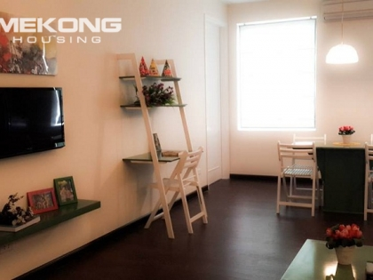 Cheap serviced apartment for rent in Pham Hung street, Cau Giay district, Hanoi.