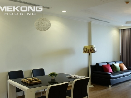 Vinhomes Nguyen Chi Thanh has an apartment for rent with 2 bedrooms